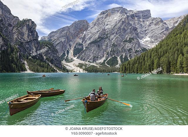 Lago di Braies, Prags, South Tyrol, Dolomites, Italy, Europe