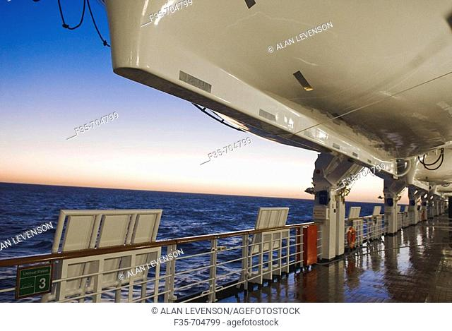Morning view from ship's lower deck