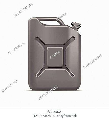 Blank Jerrycan Canister Gallon Oil Cleanser Detergent Abstergent Isolated
