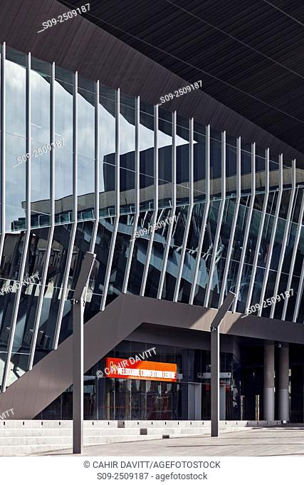 Entrance to the Melbourne Convention Centre, South Wharf, Melbourne, Victoria, Australia