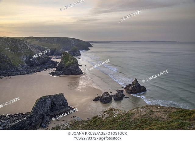Bedruthan Steps, Padstow, Cornwall, England, UK