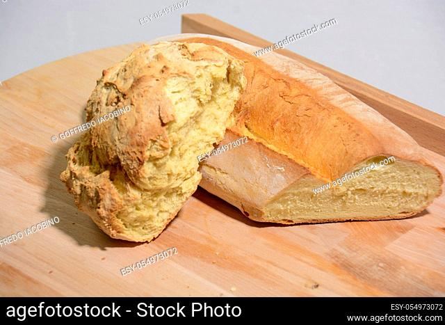 homemade Italian food: bread from durum wheat flour