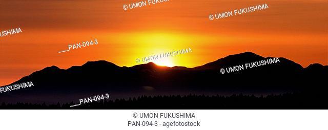 Dawn, Ginsendai, Daisetsuzan National Park, Kamikawa, Hokkaido, Japan