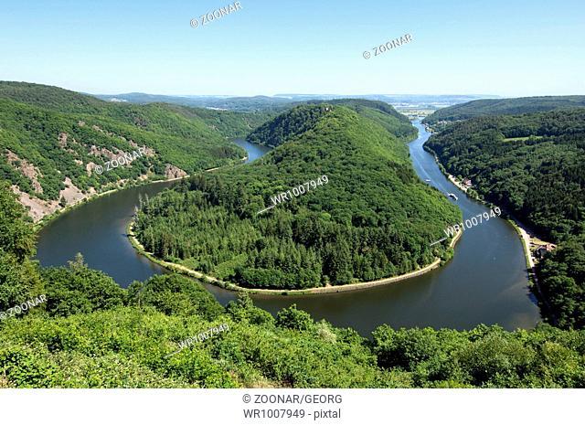 Saarschleife, loop of the Saar river, Mettlach