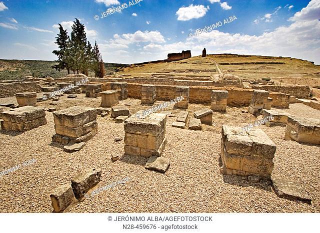 Basilica, Roman ruins of Valeria. Cuenca province, Castilla-La Mancha, Spain