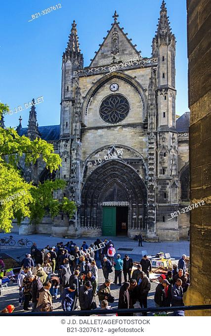 France, Nouvelle Aquitaine, Gironde, Basilique Saint Michel, at Bordeaux