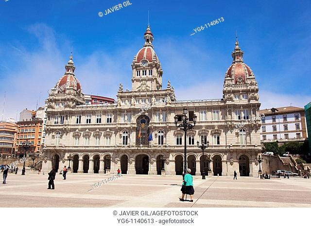 Town Hall of La Coruña, Galicia, Spain