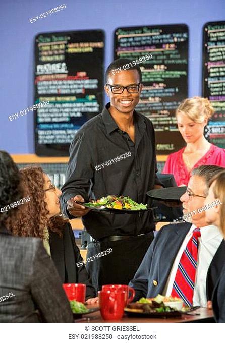 Serving Customers Food