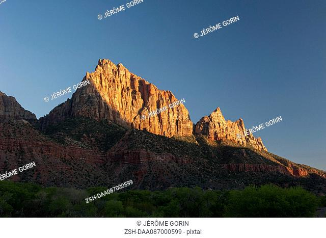 Jagged mountains in Zion National Park, Utah, USA