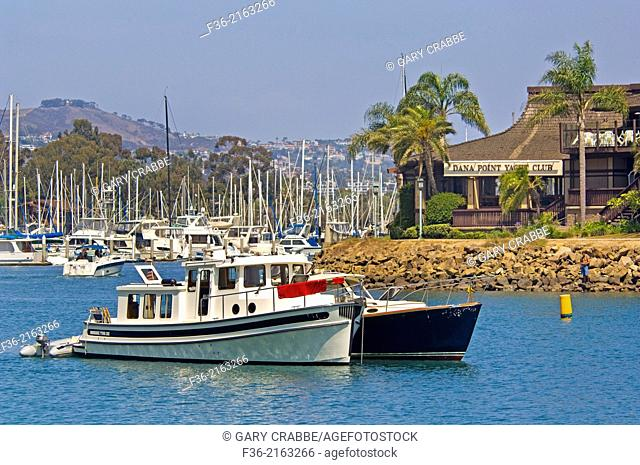 Boats in Dana Point Harbor, Dana Point, Orange County, California