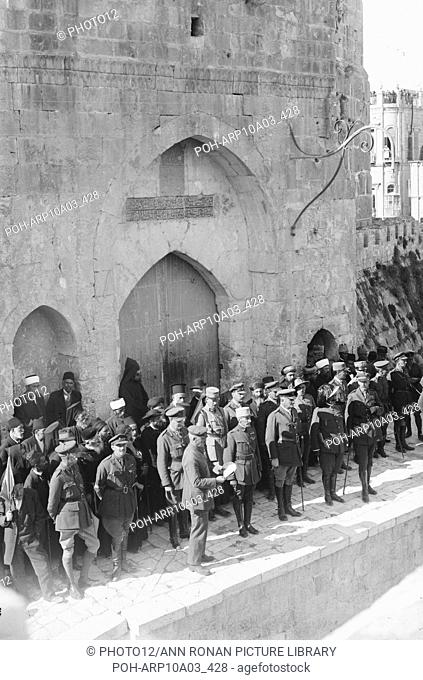 World War I  : Field Marshal Allenby's (Commander of Egyptian Expeditionary Forces) entry into Jerusalem, 11 December 1917