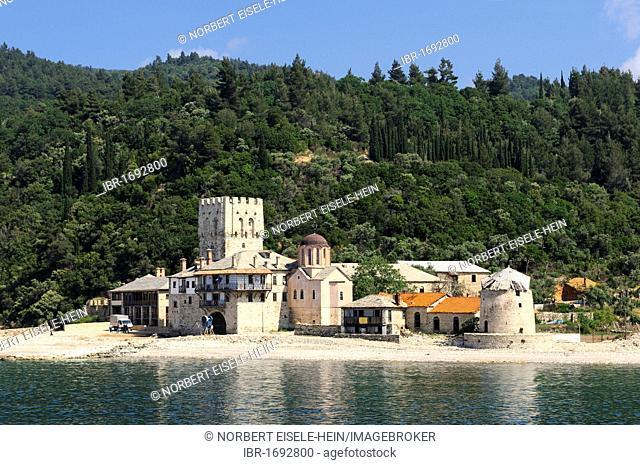Moni Zografou Monastery, Mount Athos, Halkidiki, Greece, Europe