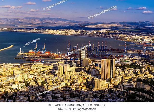 Overview of Haifa, Israel