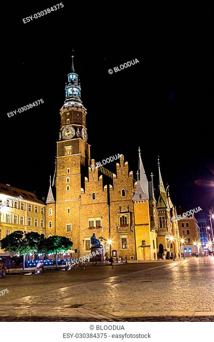Old City Hall in Wroclaw, Poland. Wroclaw old and a very beautuful city in Poland