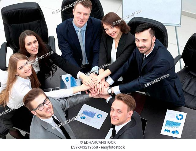 concept of success in business.professional business team
