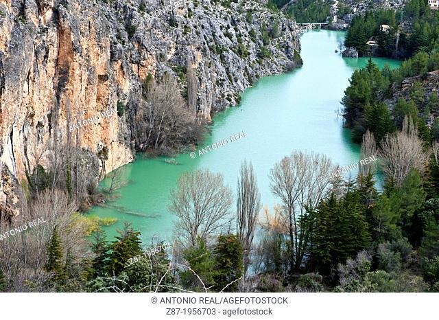 Embalse de la vieja. Cañón del río Zumeta. Sierra del Segura. Yeste. Albacete. Spain