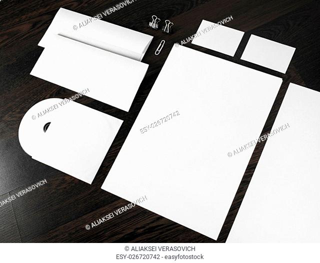 Blank stationery and corporate id template. Mockup for design presentations and portfolios
