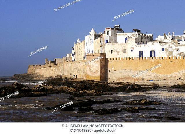 View of the Ramparts and Medina, Essaouira, Morocco, North Africa