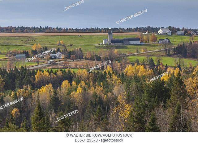 Canada, Quebec, Chaudiere-Appalaches Region, Wilson, farm, autumn by Rt 269