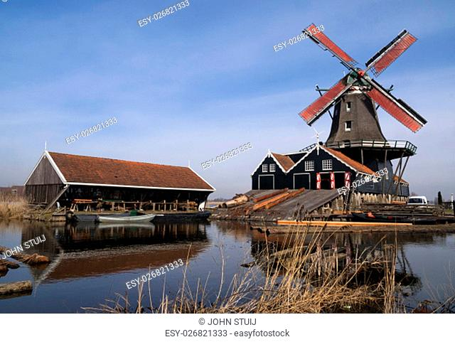 Sawing mill de Rat in IJlst in the Dutch province Friesland