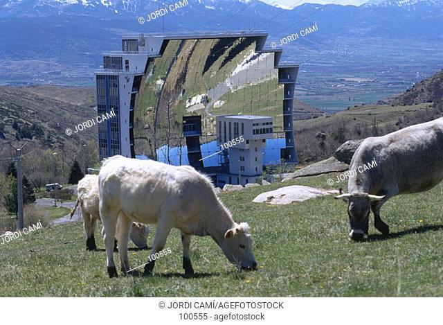 Solar furnace. Font Romeu. France