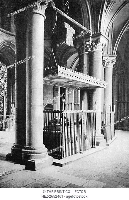 'Tomb of the Black Prince, Canterbury Cathedral', 1903. From Social England, Volume II, edited by H.D. Traill, D.C.L. and J. S. Mann, M.A