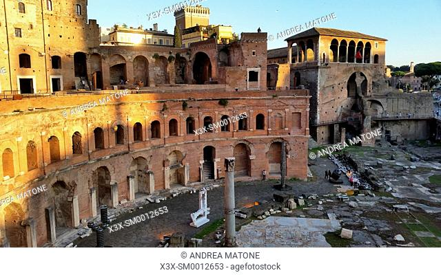 Trajan's forum and market. Rome, Italy
