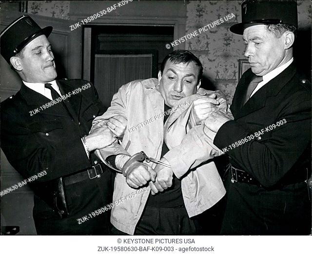 Jun. 30, 1958 - Cilles Grangier is the director of the movie. (Credit Image: © Keystone Press Agency/Keystone USA via ZUMAPRESS.com)