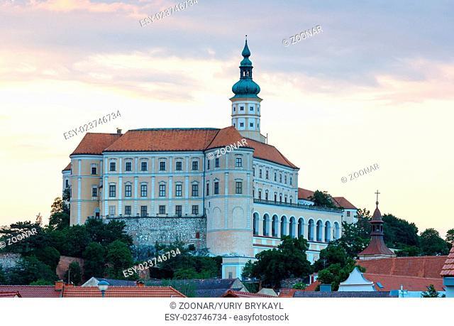 Mikulov castle sunset view (Czech Republic)