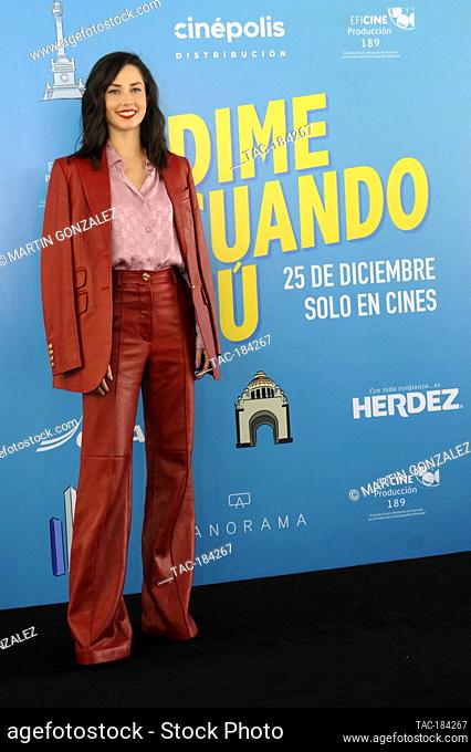 MEXICO CITY, MEXICO ñ DECEMBER 14: Ximena Romo during the press conference for the movie ëDime Cuando Tuí on December 14 2020 in Mexico City, Mexico