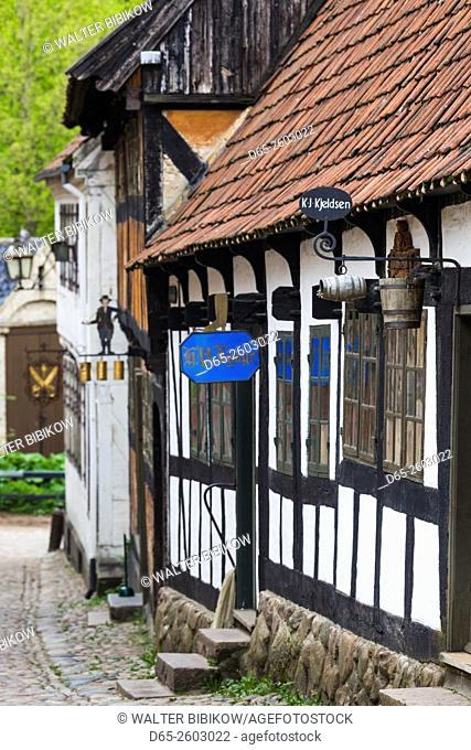 Denmark, Jutland, Aarhus, Den Gamle By, reconstructed Old Town, half-timbered buildings
