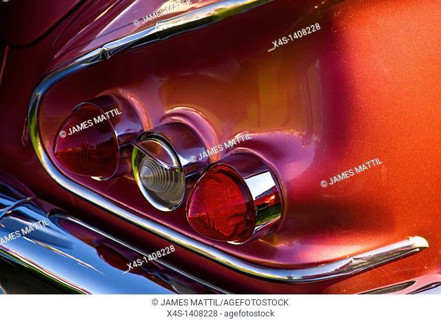 Close-up of a vintage 1960's automobile