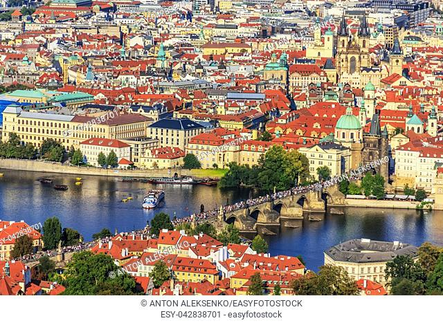 Charles Bridge and Old Town of Prague panorama