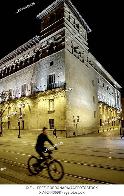 Judgment building by Night, Saragossa, Spain