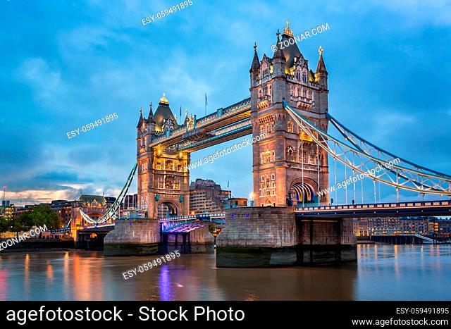 Tower Bridge in the Morning, London, United Kingdom