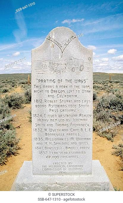 Parting of the Ways Wyoming USA