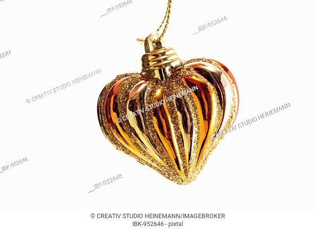 Golden heart, Christmas tree decoration