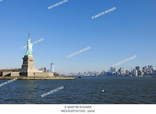 USA, New York State, New York City, View of Statue of Liberty at Liberty Island