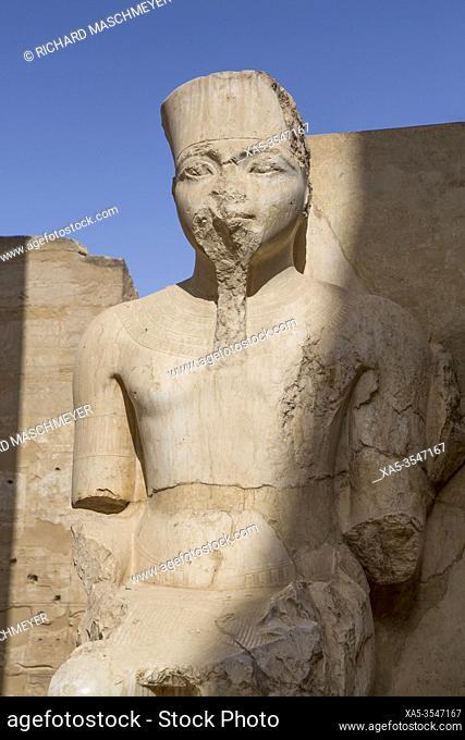 Only Know Statue of King Tutankhamun, Luxor Temple, UNESCO World Heritage Site, Luxor, Egypt