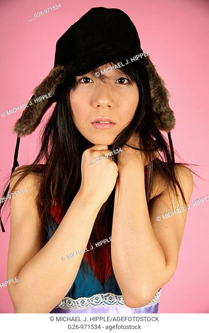 Asian-American woman portrait