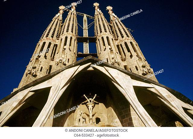 Sagrada Familia ('Holy Family') church by Gaudí. Barcelona. Spain