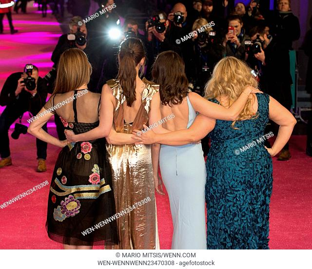 The European Premiere of 'How To Be Single' held at the Vue West End - Arrivals Featuring: Leslie Mann, Dakota Johnson, Alison Brie, Rebel Wilson Where: London