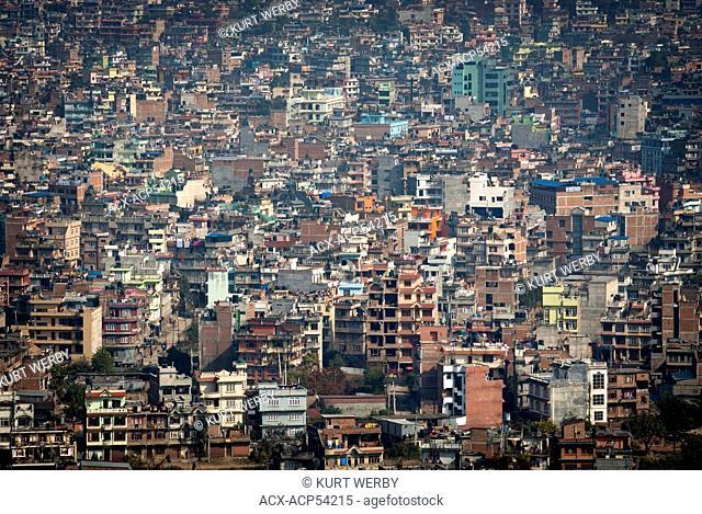 The view of Kathmandu from Swayambhunath above Kathmandu, Nepal