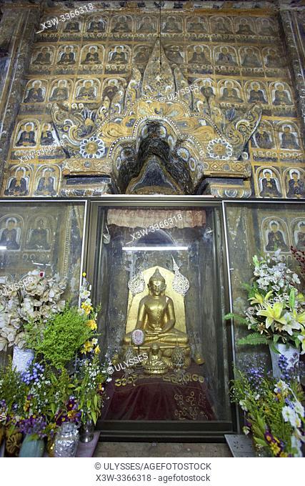 Alotawpyae pagoda, Old Bagan and Nyaung U village area, Mandalay region, Myanmar, Asia