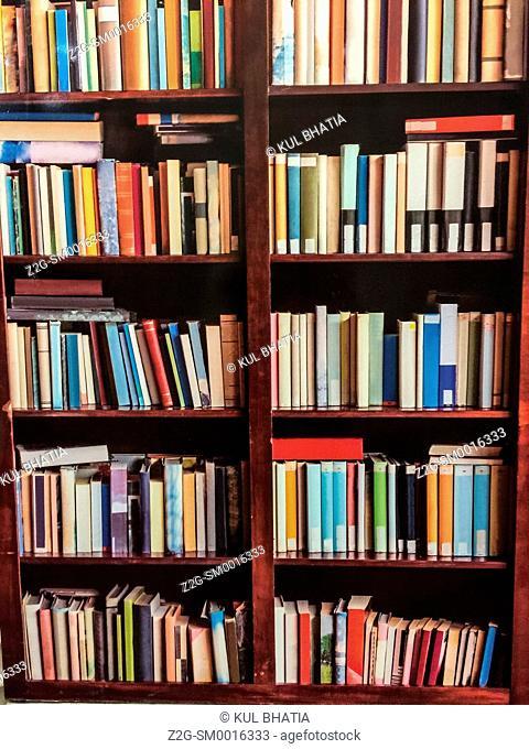 Two bookshelves, Ontario, Canada