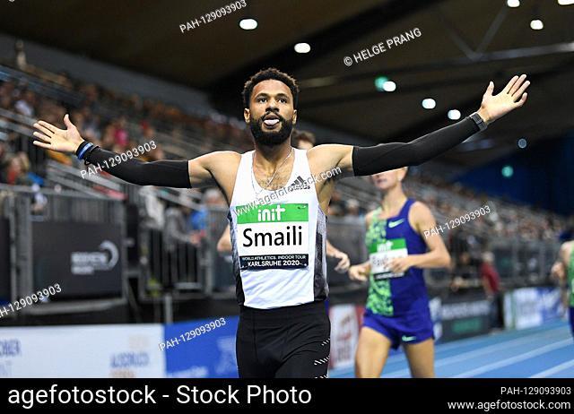 Mostafa Smaili (Morocco) winner 800m run. GES / Athletics / Indoor Meeting Karlsruhe | IAAF World Indoor Tour, January 31, 2020 | usage worldwide
