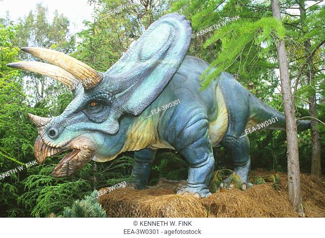 Torosaurus, an herbivorous dinosaur of the Late Cretaceous period (70-100 million years ago)