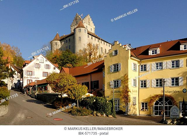 Meersburg - the old town and the historical castle - Baden Wuerttemberg, Germany Europe