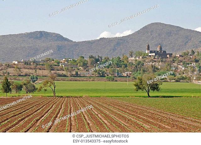 Farming community in central Mexico