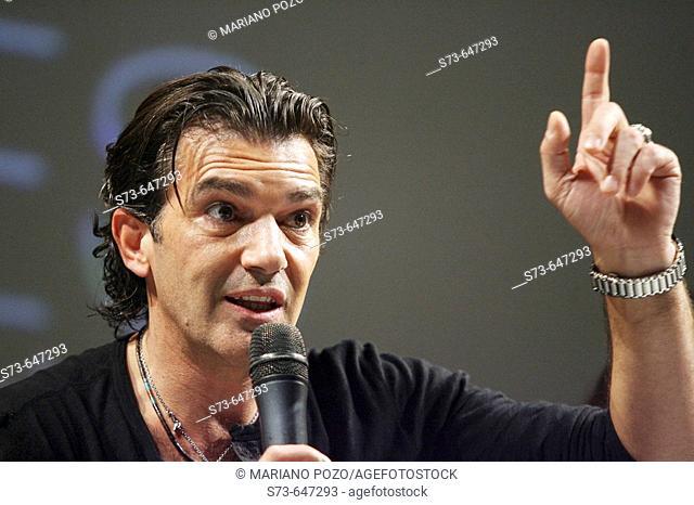 The Spanish actor Antonio Banderas during the presentation of his film 'El camino de los ingleses'